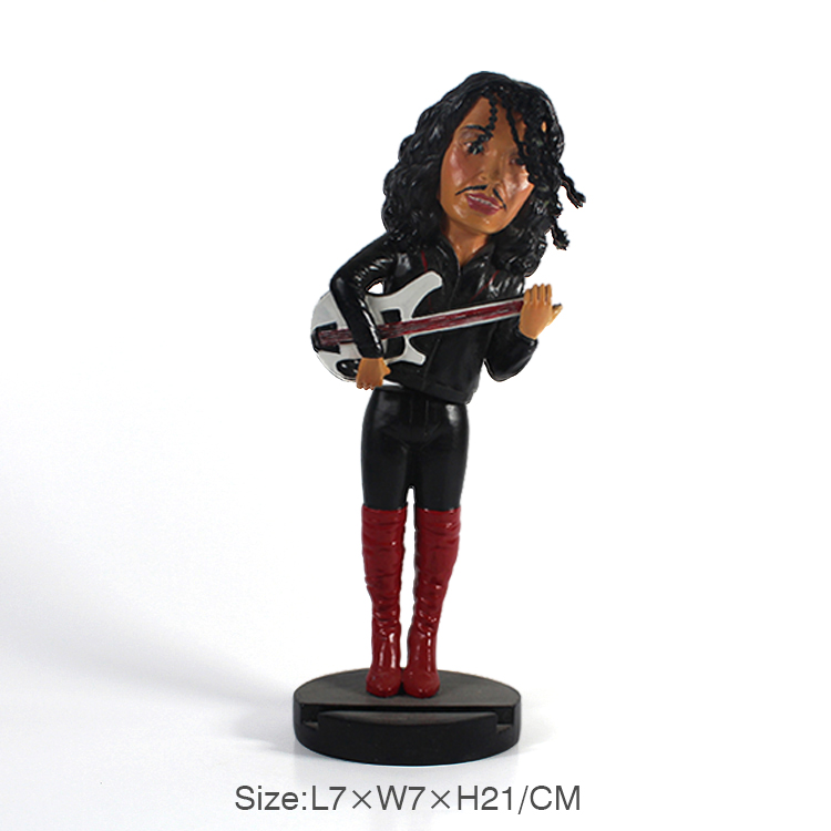 Reproductor de música rock personalizado bobble head dolls decoración del coche